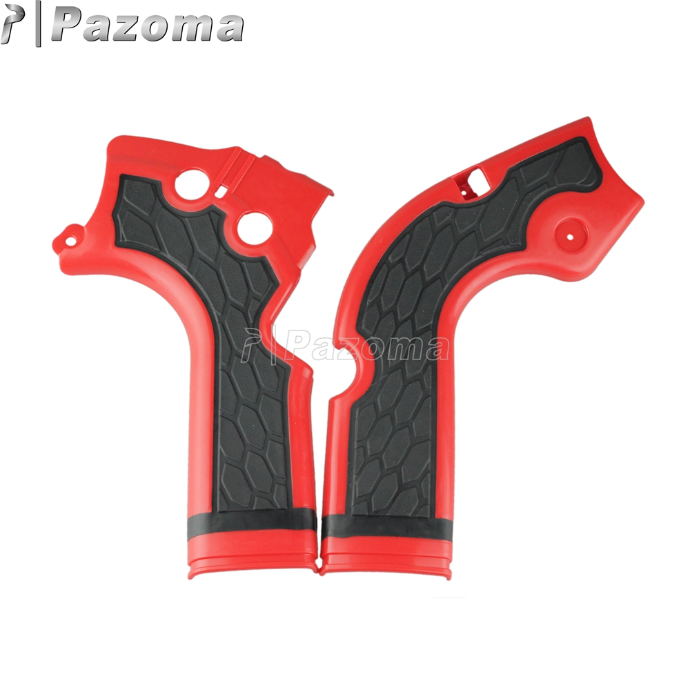 For Honda <font><b>CRF</b></font> 250 R <font><b>450</b></font> R 2013-2016 Motorcross Motorcycles Red Frame Guard Protection Cover image