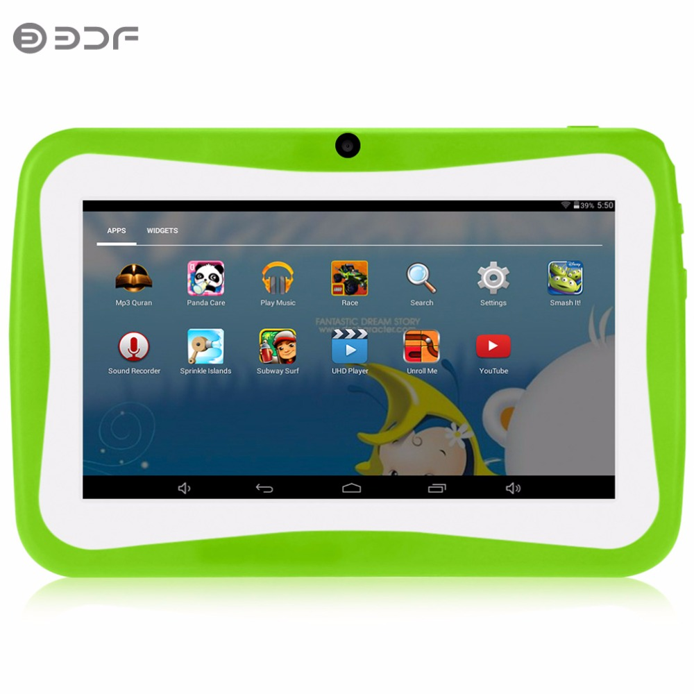 New Design 7 Inch Children Kids Learning Tablet Pc Android System Quad Core  Installed Best Gifts For Children Tablet Pc