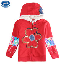 novatx F5201 Girls clothes jacket child outerwear Hooded coats cartoon baby clothes kids coats winter jackets coats hot top