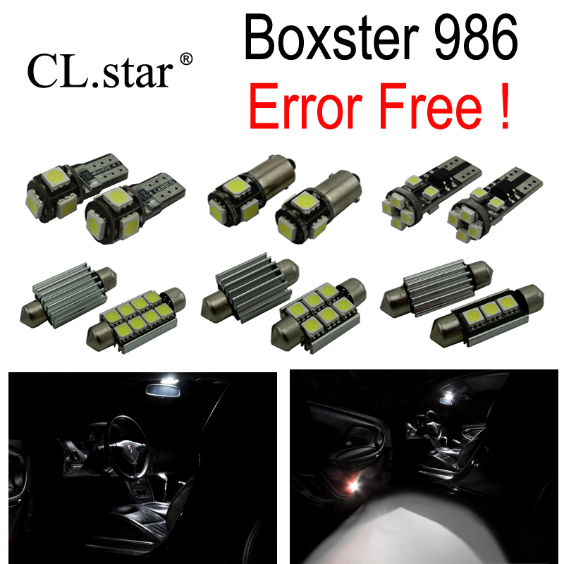 14pc X Canbus Error free LED Interior dome map Light lamp Kit Package For Porsche Boxster 986 (1996-2004) 18pc canbus error free reading led bulb interior dome light kit package for audi a7 s7 rs7 sportback 2012