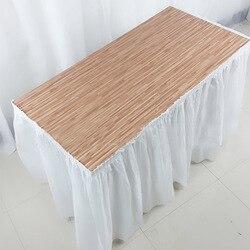 Balle descartável mesa saia plástico festa 13 cores 73x420cm capa de mesa para festa de aniversário decoração do festival de casamento