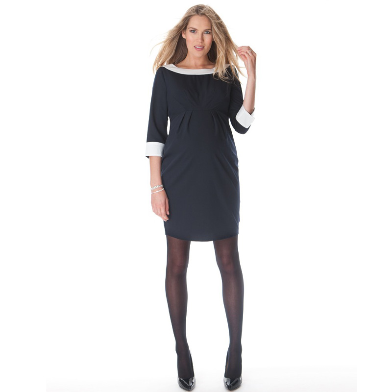 New Fashion Summer Elegant O-Neck Maternity Dress Pregnancy Clothing Knee-Length Tencel Official Party Vestidos for Women Hot woman fashion slim solid knee distrressed maternity wear jeans premama pregnancy prop belly adjustable pants for women c73