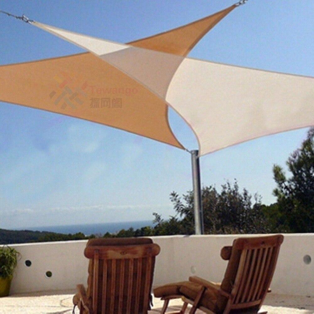 Tewango Marke Dreieckige Terrasse Sonne Sonnensegel Kombination Net