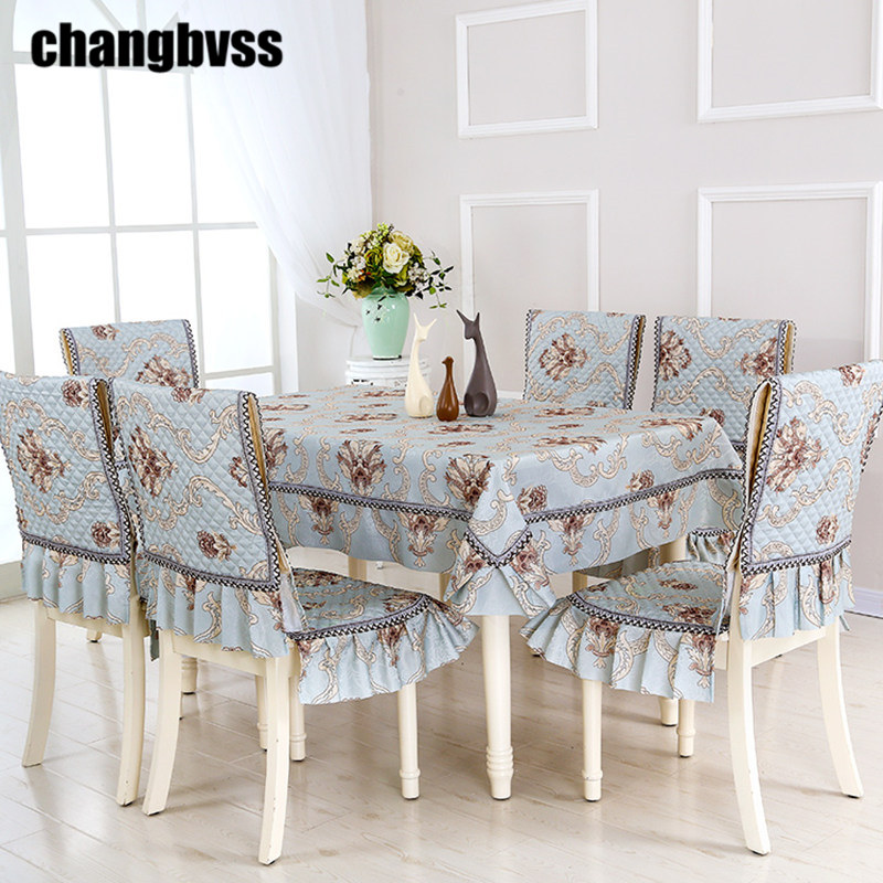product European Style 5 Colors Table Cloth Flower Rrinted 9pcs/set Tablecloths Outdoor Table Cover Party Wedding Tabel Cloths manteles