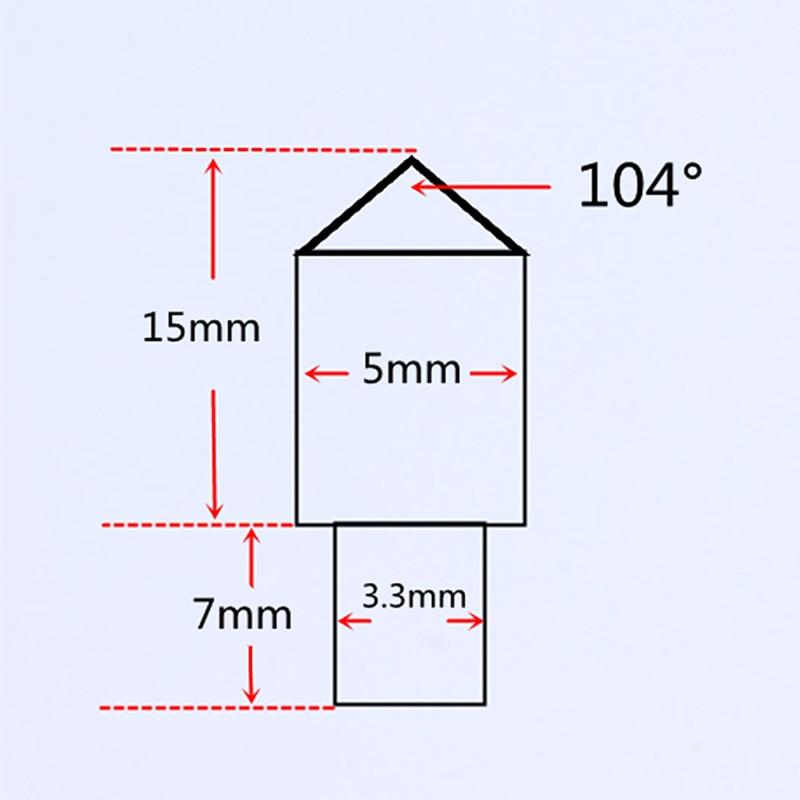 10pcs lot Free shipping Single point diamond dresser cone tip diamond engraving needle engraver bit