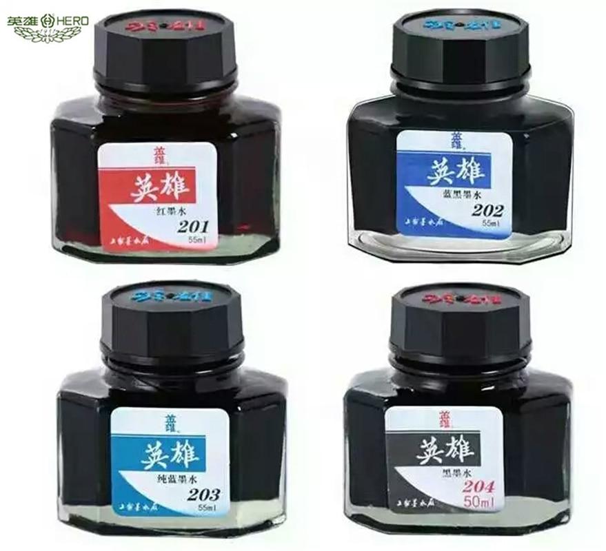 Hero brunnen stift tinte 50 ml glas schwarz blau rot flaschen tinte refill büro liefert für brunnen stift schreibwaren schule chancery