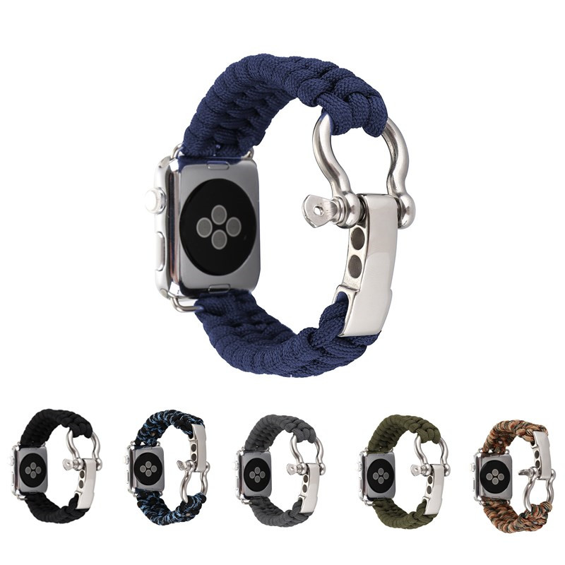 Multifunctional cool strap Nylon strap for apple watch band Series 1 2 3 Bracelet wrist for apple watch bands 42mm 38mm luxury ladies watch strap for apple watch series 1 2 3 wrist band hand made by crystal bracelet for apple watch series iwatch
