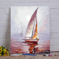 Framed Painting By Number Coloring By Numbers For Home Decor Hand Painted Canvas 4050 Dream Yacht