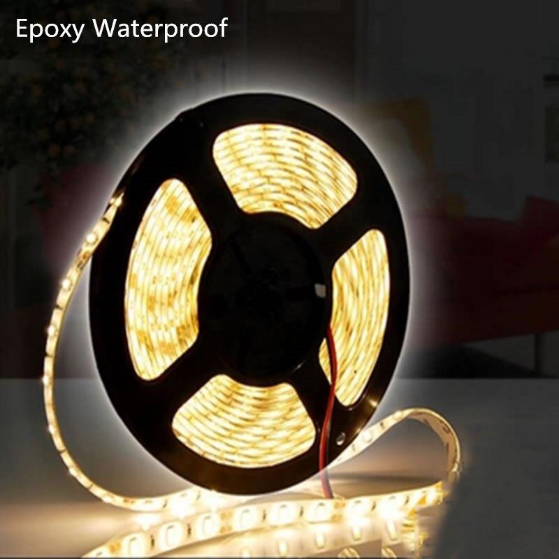 Augstas kvalitātes 24 V LED sloksne 5050 elastīga sloksnes gaiša lente 60LED / m 5m 300LED balta silti balta zila RGB LED tira llevada