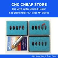 1 Pc Gcc Cutting Plotter Signpal Vinyl Cutter Blade Holder 15 Pcs 45 Degree Blade Vinyl