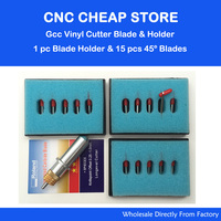 1 Pc Gcc Cutting Plotter Signpal Vinyl Cutter Blade Holder 15 Pcs 45 Degree Blade Vinyl
