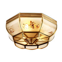 Classic Ceiling Copper Lamp for Bedroom Study Room with free shipping