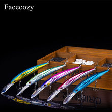 Facecozy Bionic Reflection Fishing Lures Minnow Shape Artificial Lure Brilliant Color Swimbait Fishing Hard Bait Floating Crankb