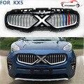 Защитный детектор для автомобиля  передняя решетчатая решетка-гриль из нержавеющей стали  1 шт.  для Kia Sportage KX5 2016 2017