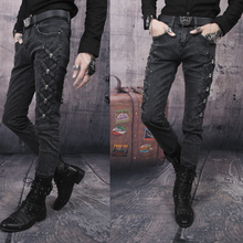 Hot sell ! Free shipping Black 2016 men's clothing jeans male casual slim trousers new skinny pants high quality Hole