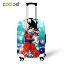 Чехол для багажа Dragon Ball 18-32 дюймов дорожная сумка CoverElastic Saiyan Goku Vegeta дорожные аксессуары для чемодана защитный чехол