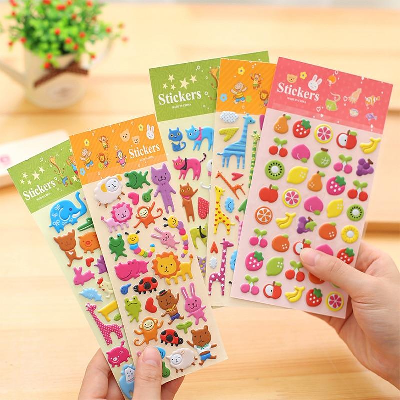 1 PCS Cute Creative Kawaii 3D Cartoon Foam Sticker Popular Style Children Gift Stickers Book Diary Decoration Sticky Notes