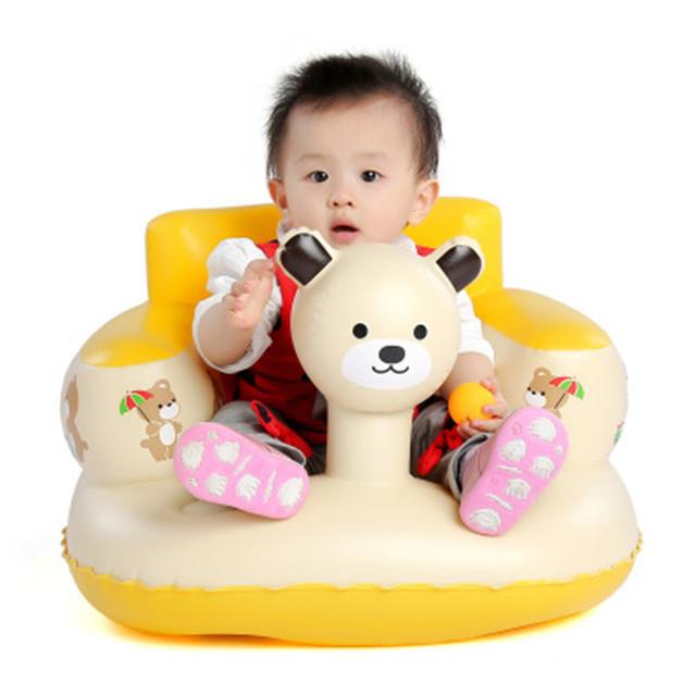 Criança Cadeira Banheira Animais Padrão Sofá Inflável das Crianças Assentos de Banheiro Banquinho Portátil Cadeira de Aprendizagem Do Bebê Venda