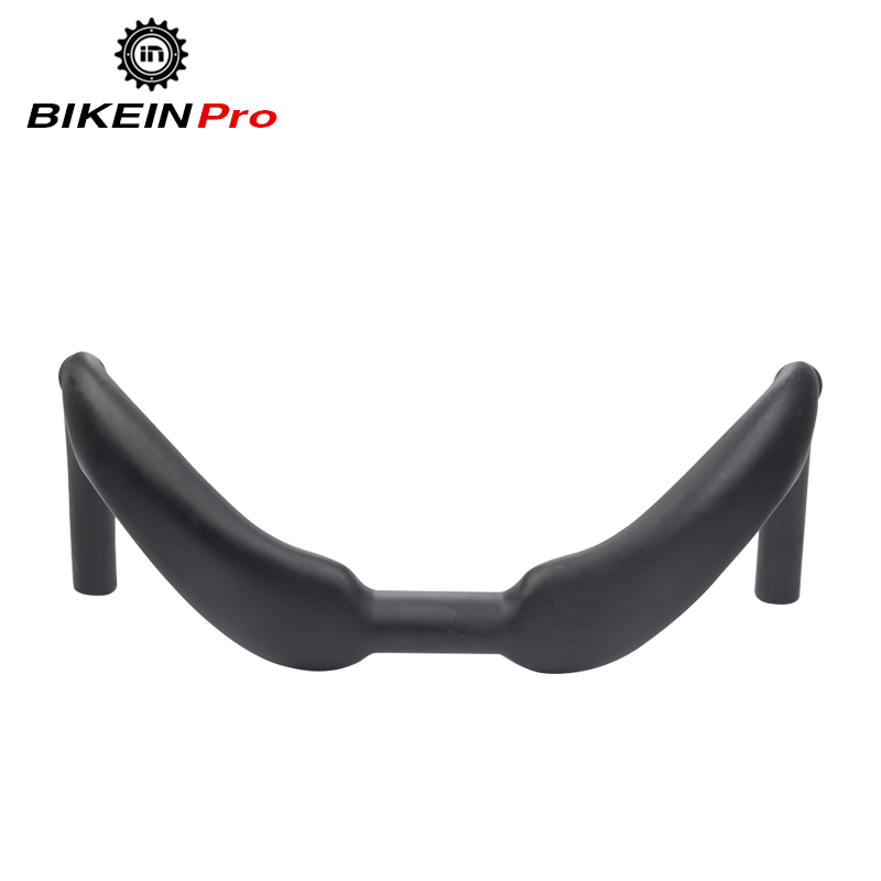 BIKEIN Lite Road Bike UD Carbon Track Handlebars Matte Black 370mm/385mm Cycling Bicycle Site Racing Handlebar Bent Bar 320g fouriers mtb handlebar hb mb008 mountain bicycle handlebar ud carbon fiber bike handlebars 31 8x750mm