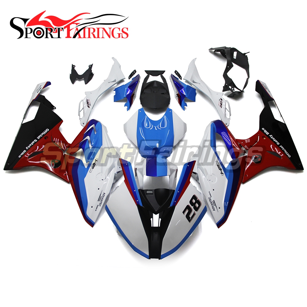 Complete Race Fairings For BMW S1000RR S1000 RR 15 16 Year 2015 2016 ABS Injection Motorcycle Racing Fairing Kit White Red Blue