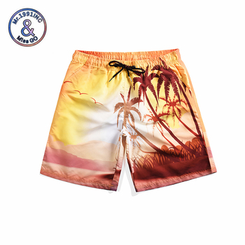 Mr.1991INC 2019 Summer Beach shorts 3D coconut forest style print boardshorts homme quick drying bermudas masculinas de marca mr 1991inc