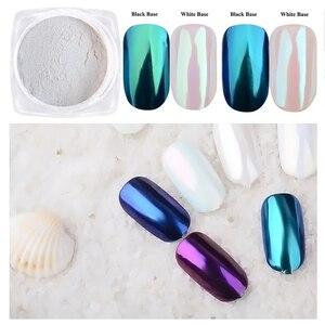 Image 5 - 1Box Gradient Shining Nail Glitter Dust Magic Mirror Effect Powder Aurora Nail Art Pigment DIY Decoration Dust Tools BEB01 07