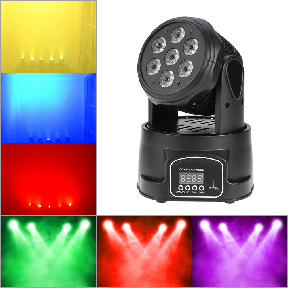 Dmx-512 100W 4 In 1 Rgbw Moving Head Stage Light Sound Active Led Stage Lighting Effect Par Strobe Party Disco Show Light Stage