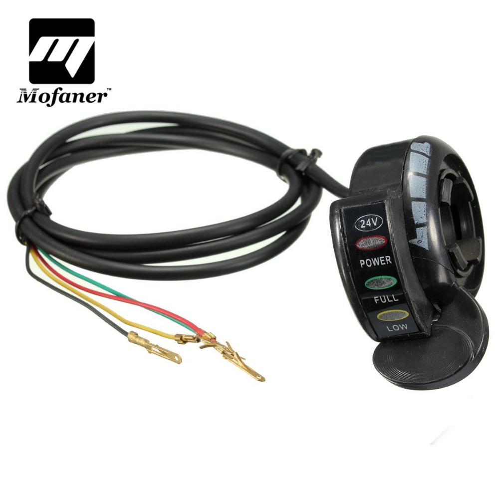 24v 4 Wires E Bike Electric Scooter Thumb Throttle Led Light Wire Cord Wiring Diagram Accelerator Speed Controller For Buggy Go Kart In Grips From Automobiles