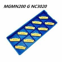 100Pcs Tungsten Carbide Slotting Tool MGMN200 G NC3020 2mm Insert Cutting Tools Lathe CNC Machine Milling
