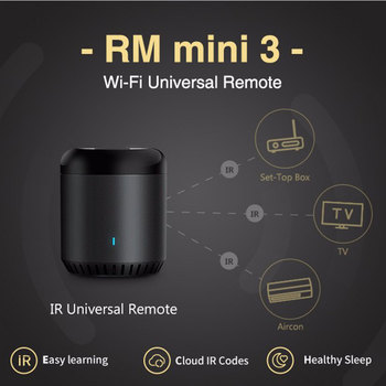 Broadlink RM Mini 3 Universal WiFi 4G Controle Remoto IR Via APP Control Smart Home Funciona Com Alexa Eco Google Home Mini 1
