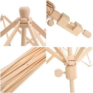 Image 5 - 1Pc Houten Garen Fiber String Wol Houder Paraplu Breien Ambachtelijke Gereedschappen Voor Patchwork Naaien Diy Accessoires