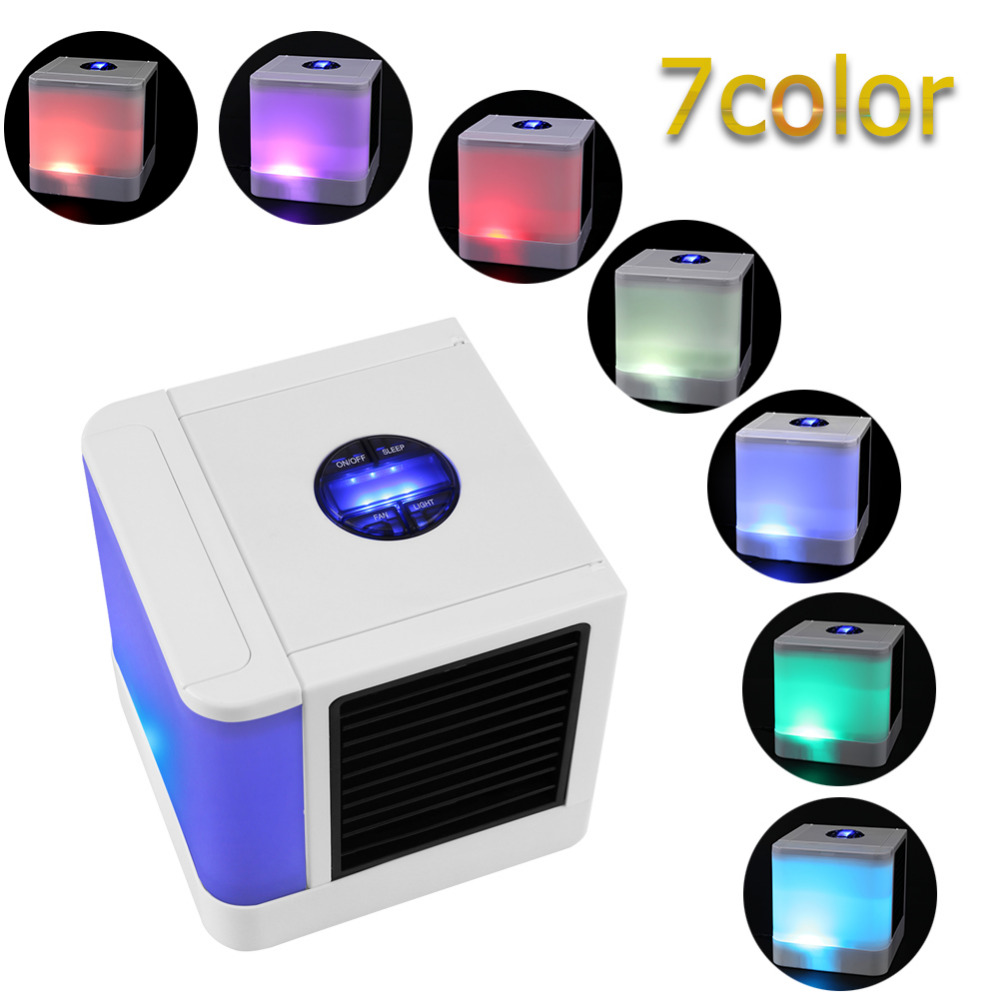 3rd Generation 7 Colors Mini Air Conditioner Artic Air Cooler LED LCD Timer USB Personal Space Cooler Fan Air Cooling Fan Device (3)