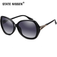 STATE NISSEN Brand Designer Oversized Square Sunglasses Women Fashion UV400 Polarized Sun Glasses Outdoor Driving Beach Party