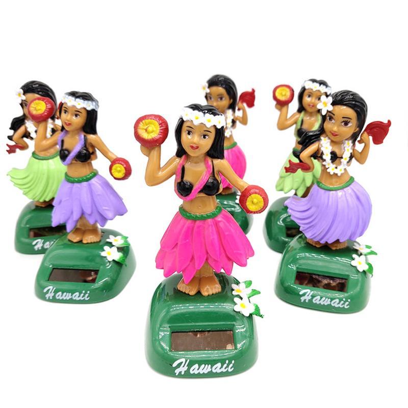 Solar Powered Car Ornaments Little Girl Swing Dancing Decorative Car Interior Dashboard Decoration Accessories Mumustar