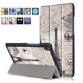 Magnet Leather Cover Stand Case for Lenovo Tab3 8 Plus / P8 Tb-8703f 8 Inch Tablet Cases + Screen Protectors + Stylus