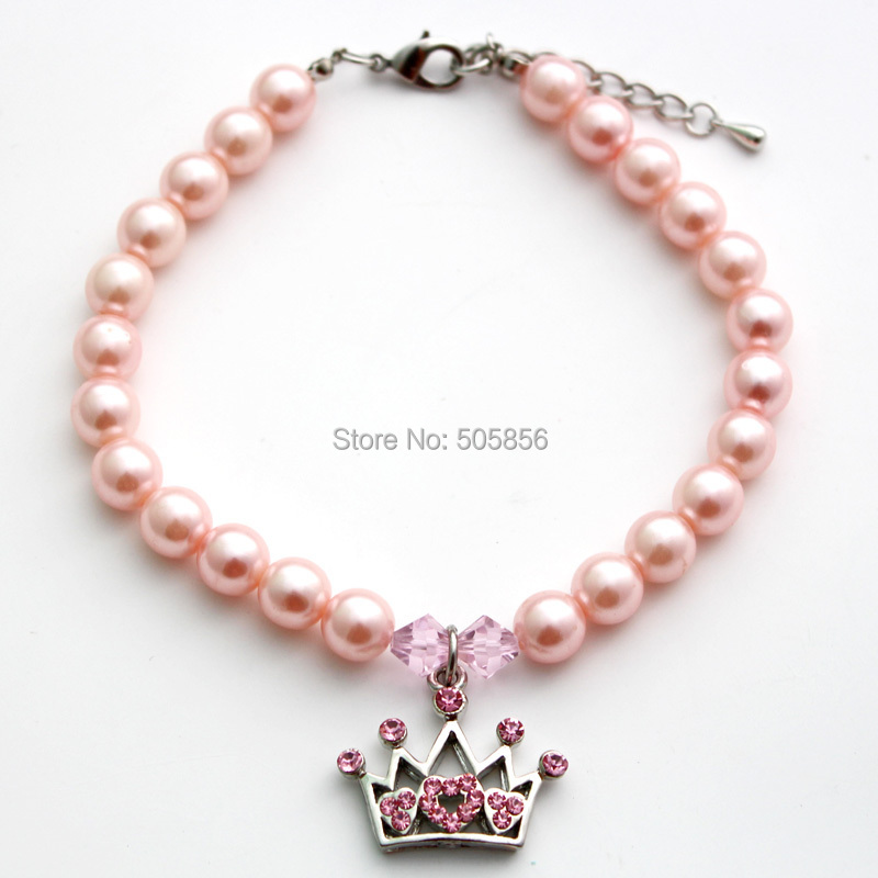 Pet dog pearls necklace collar cat puppy jewelry ...