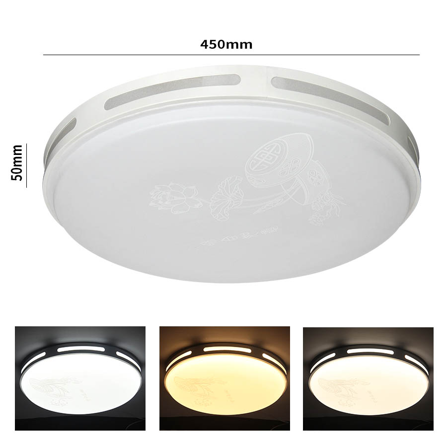 72W AC 220V LED Ceiling Lights three color 5730 LED chips  For dinning room bed room foyer study  Around modern lamp