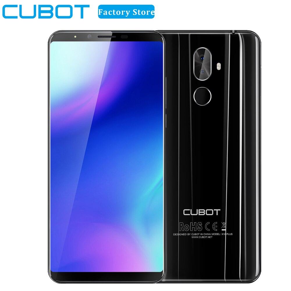 Cubot X18 плюс Android 8,0 18:9 FHD + 4G B 6 4G B 5,99 дюймов MT6750T 8-ядерный смартфон 20MP + 2MP камеры заднего 4000 мАч мобильный телефон 4G
