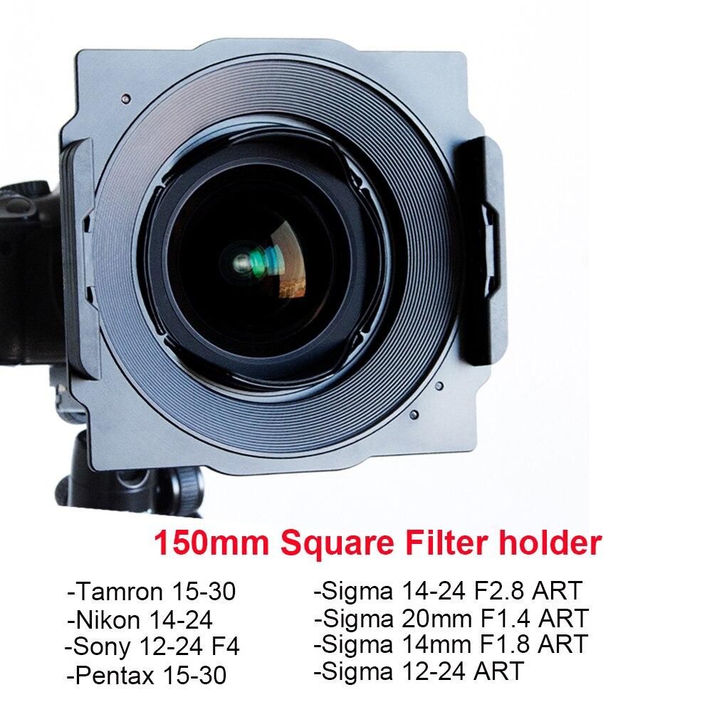 Wyatt Métal 150mm Carré Porte-Filtre Support pour Tamron 15-30, Nikon 14-24, sigma 14-24/12-24/20mm/14mm, Sony 12-24, pentax 15-30