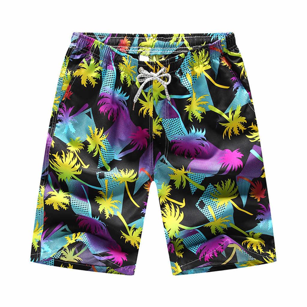 Rashguard الرجال سريع التجفيف الرجال 2019 السراويل السباحة شورتات للبحر الصيف طفح الحرس الرجال السباحة زهرة ركوب الأمواج تصفح ملابس السباحة