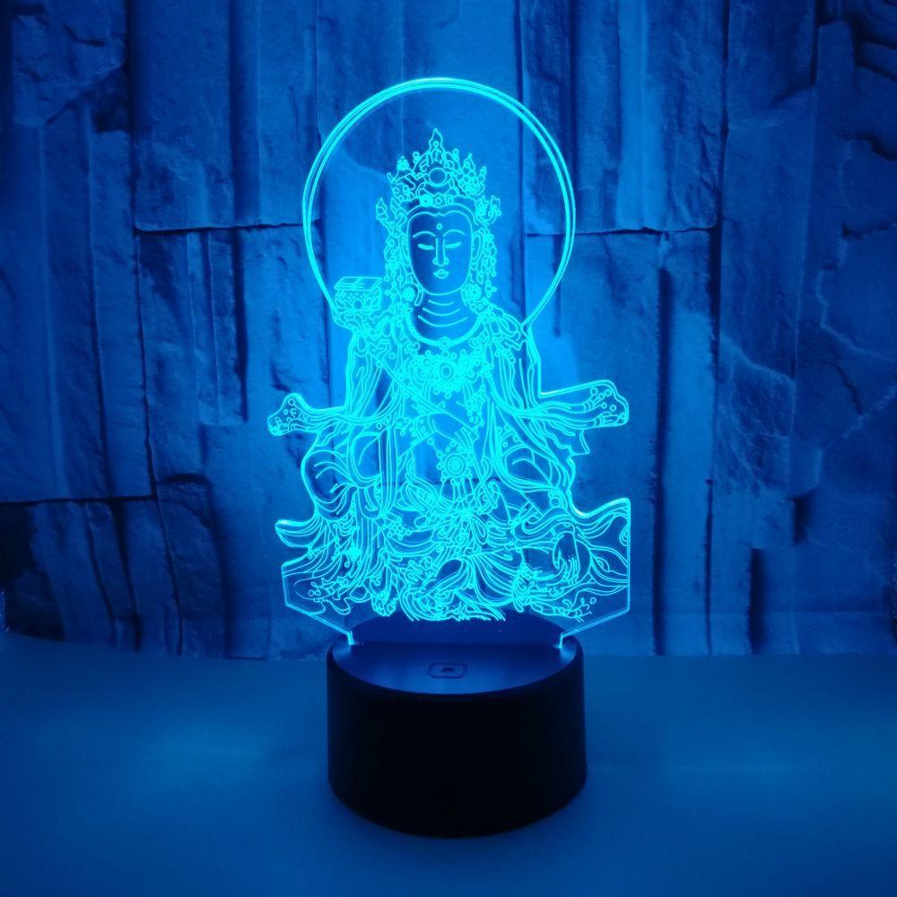 Novo lobo 3d lâmpada colorida toque remoto