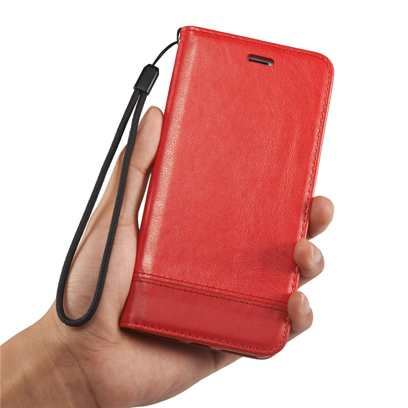 Untuk iphone 6 6 s 7 ditambah 5 5 s case mewah magnetic dompet kulit - Aksesori dan suku cadang ponsel - Foto 4