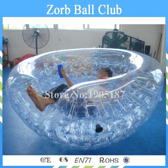 Бесплатная доставка гигантский надувной пляжный кокон мяч для детей, ТПУ плавающей воды Прозрачный мяч полусфера, кокон стул продажи