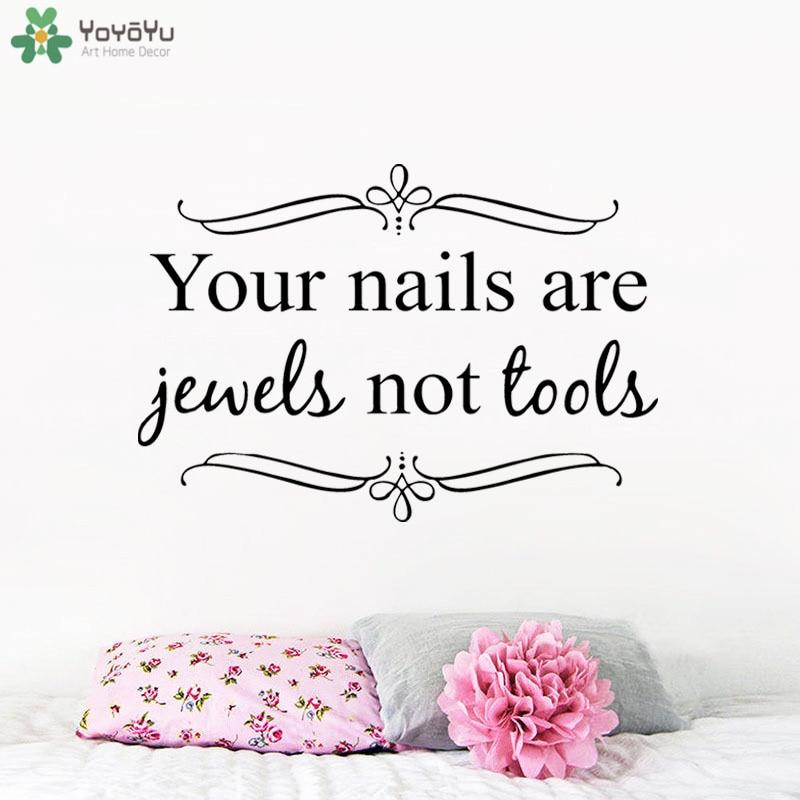 Nail Art Quote: Aliexpress.com : Buy Girls Nail Salon Wall Decor Quotes