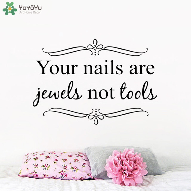 Girls Nail Salon Wall Decor Quotes Your Nails Are Jewels