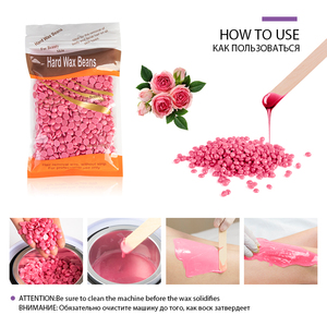 Image 5 - Electric Hair Removal Wax melt Machine Heater 300g Wax Beans 30pcs Wood Stickers Hair Removal Sets Waxing Kit cera depilatori
