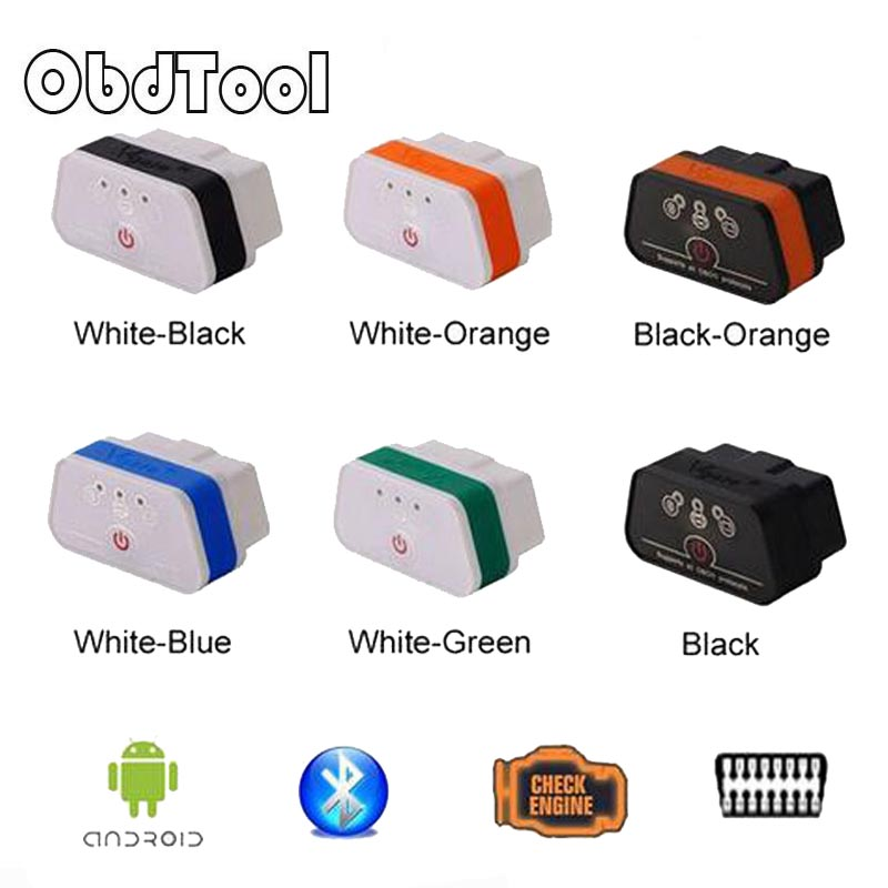 OBDTOOL iCar2 Bluetooth OBD Scanner iCar 2 elm327 Bluetooth Diagnostic Interface with Free Shipping 6 Color LR20