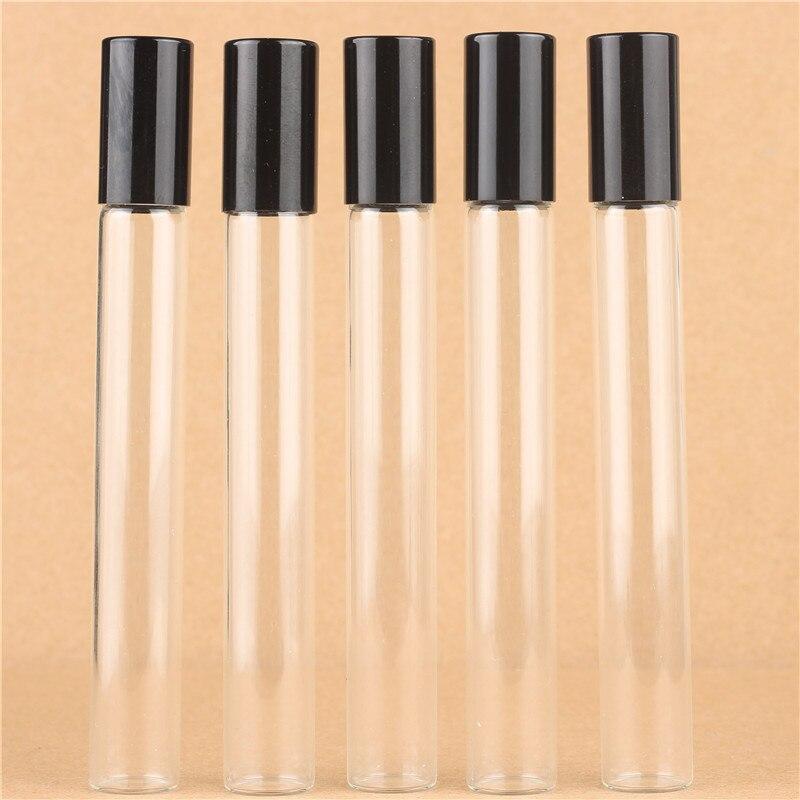 10ミリリットル(50個ロット)卸売ミニガラスロール上のボトルでステンレス鋼ローラー小さな不可欠オイルローラー 上のサンプル瓶  グループ上の 美容 & 健康 からの 詰め替えボトル の中 3