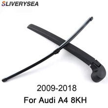 SLIVERYSEA 16'' Rear Wiper Arm And Blade For Audi A4 8KH 2009-2018 High Quality Natural Rubber Auto Car Accessories sliverysea 16 rear wiper arm and blade for audi rs6 4gh c7 2013 2018 high quality natural rubber auto car accessories