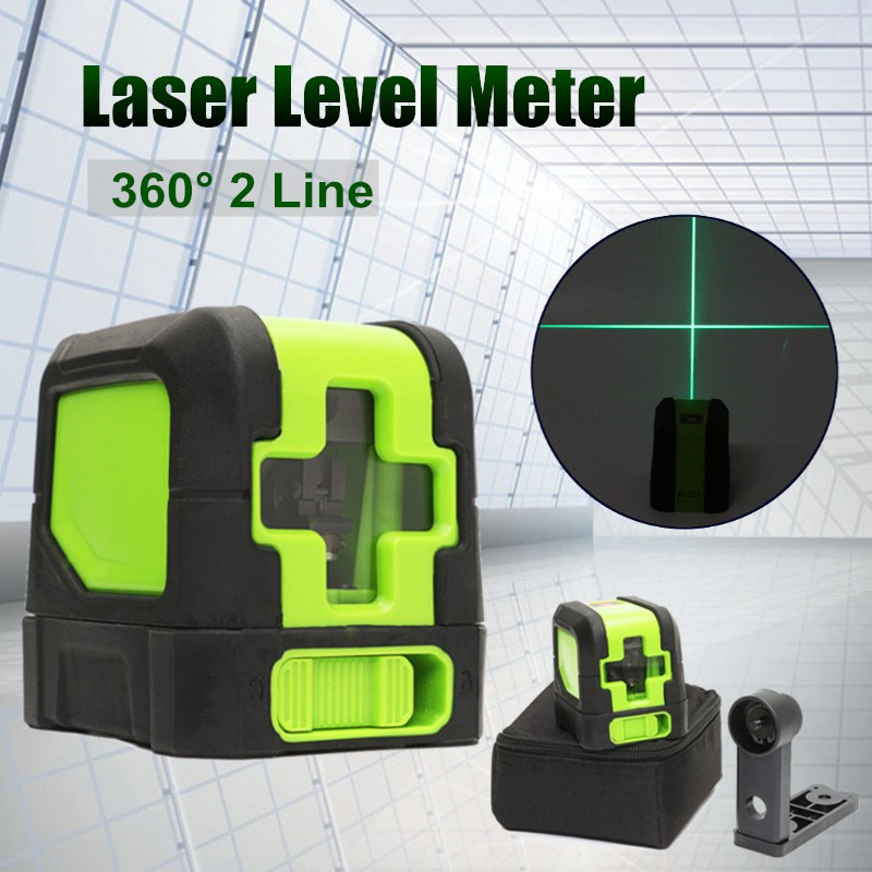 Best Promotion 2 Lines Laser Level 360 Degree Rotary Self Leveling Vertical Horizontal Level Green Cross Lights Laser Tools thyssen parts leveling sensor yg 39g1k door zone switch leveling photoelectric sensors